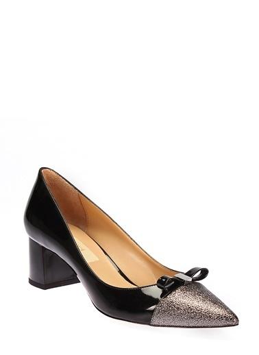 İnci Kalın Topuklu Abiye Ayakkabı Siyah
